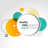 Vector Modern Design Circle template Royalty Free Stock Photos