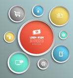 Vector Modern Design Circle template background with icons. Stock Photography