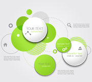 Vector Modern Design Circle template Royalty Free Stock Images