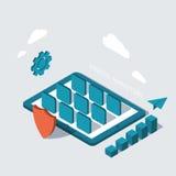 Vector modern digital marketing background Stock Photo