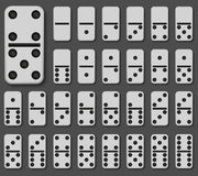Vector modern domino set on gray background Royalty Free Stock Images