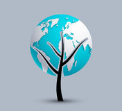 Vector modern earth background. Royalty Free Stock Image