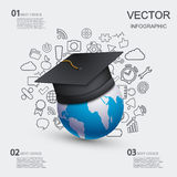 Vector modern education infographic background. Royalty Free Stock Images