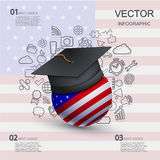 Vector modern education infographic background Stock Photo