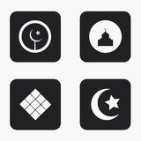 Vector modern eid mubarak icons set Stock Photography