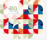Vector modern elegant circle banner Stock Image