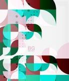 Vector modern elegant circle banner Royalty Free Stock Images