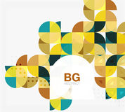 Vector modern elegant circle banner Royalty Free Stock Photography