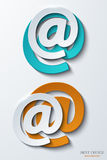 Vector modern email background. Royalty Free Stock Photos