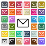 Vector modern email flat design icon set in button Stock Image
