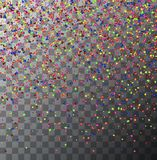 Vector modern festive confetti on transparent background. Eps10 Royalty Free Stock Photos