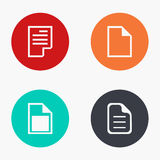 Vector modern file colorful icons set Stock Photography