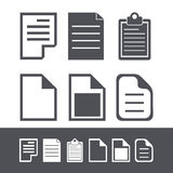 Vector modern file icons set. Web element design Stock Photography