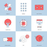Vector modern flat backgrounds set. Royalty Free Stock Image