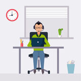 Vector modern flat character design on businessman Stock Image