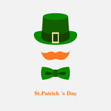 Vector modern flat color design icon on Saint Patricks Day Royalty Free Stock Image