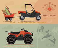 Vector modern flat design ATV. Stock Images