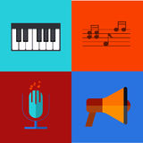 Vector modern flat icons set. Royalty Free Stock Photos