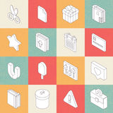 Vector Modern Flat Icons 6 Stock Photo