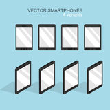 Vector modern flat smartphone icons set Stock Images