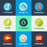 Vector modern flat start up logo collection royalty free illustration