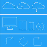 Vector modern flat technology icons set Royalty Free Stock Photo