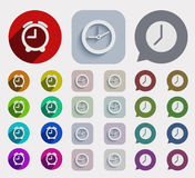 Vector modern flat time icons set Stock Photography