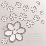 Vector modern flowers background Royalty Free Stock Photos