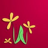 Vector modern flowers background for invitation Stock Images