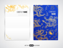 Vector modern flyer, brochure design template with Stock Photography
