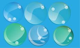 Vector modern foam soap bubbles abstract background Royalty Free Stock Photo