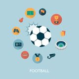 Vector modern football concept illustration Royalty Free Stock Photo