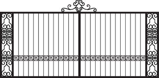Vector Modern forged gates Stock Images
