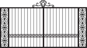 Vector Modern forged gates Stock Photography