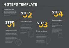 Modern progress four steps template Royalty Free Stock Photo