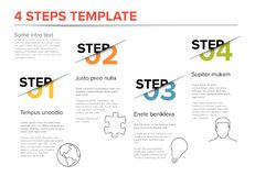 Modern progress four steps template Stock Images