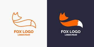 Vector modern Fox logo and emblem. Royalty Free Stock Photography