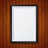 Vector modern frame with shadow on wooden Royalty Free Stock Images