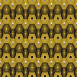 Vector modern geometric seamless pattern. Set of golden seamless backgrounds. Golden lined shape Royalty Free Stock Images