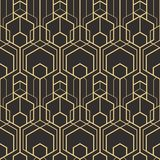 Abstract art deco seamless pattern 02. Vector modern geometric tiles pattern. golden lined shape. Abstract art deco seamless luxury background Royalty Free Stock Photography