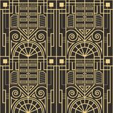 Abstract art deco seamless pattern 02. Vector modern geometric tiles pattern. golden lined shape. Abstract art deco seamless luxury background Royalty Free Stock Photos