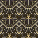 Abstract art deco seamless pattern 25. Vector modern geometric tiles pattern. golden lined shape. Abstract art deco seamless luxury background royalty free illustration