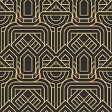 Abstract art deco seamless pattern 26. Vector modern geometric tiles pattern. golden lined shape. Abstract art deco seamless luxury background vector illustration