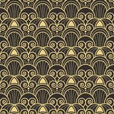 Abstract art deco modern tiles pattern01. Vector modern geometric tiles pattern. golden lined shape. Abstract art deco seamless luxury background Royalty Free Stock Photo