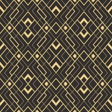 Abstract art deco modern tiles pattern02. Vector modern geometric tiles pattern. golden lined shape. Abstract art deco seamless luxury background Stock Images