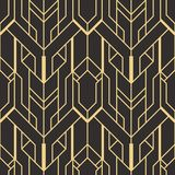 Abstract art deco seamless pattern 01. Vector modern geometric tiles pattern. golden lined shape. Abstract art deco seamless luxury background vector illustration