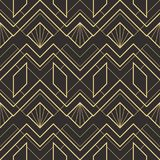 Abstract art deco seamless pattern 02. Vector modern geometric tiles pattern. golden lined shape. Abstract art deco seamless luxury background royalty free illustration