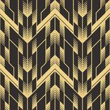 Abstract art deco seamless pattern 03. Vector modern geometric tiles pattern. golden lined shape. Abstract art deco seamless luxury background vector illustration