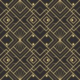 Abstract art deco seamless modern tiles pattern. Vector modern geometric tiles pattern. golden lined shape. Abstract art deco seamless luxury background vector illustration