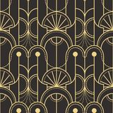 Abstract art deco seamless pattern 05. Vector modern geometric tiles pattern. golden lined shape. Abstract art deco seamless luxury background royalty free illustration